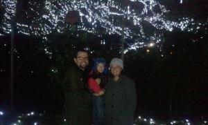 The three of us under the lights at City Park