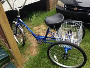 Dawne's three-wheel bike.