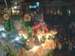 Alice in Wonderland float in Hermes
