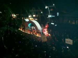 Miley Cyrus float in Krewe D'Etat