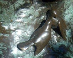 Closeup of PP Statue