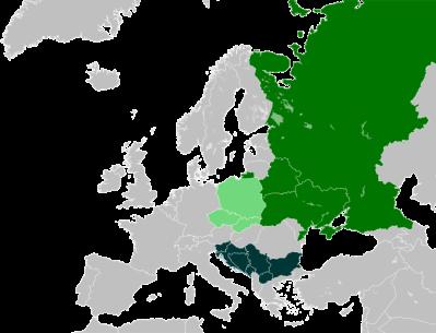 Image: Slavic countries via Wikipedia