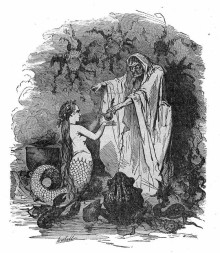 Early illustration of The Sea Witch from Andersen's tales