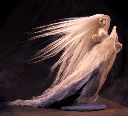 A Yuki-Onna doll sculpture
